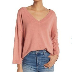 Madewell Sweater Double-V Pullover Pink XS